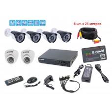 Комплект видеонаблюдения VSD-X6S4/429W2/261W2.25